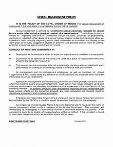 Anti Discrimination Policy Template Sexual Harassment Policy Free Download