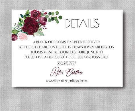 Watercolor Burgundy Floral Geometric Wedding Invitation
