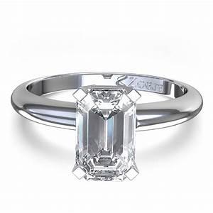 delicate emerald cut diamond engagement ring in palladium With emerald cut wedding ring