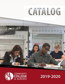 catalog class schedule community college aurora colorado