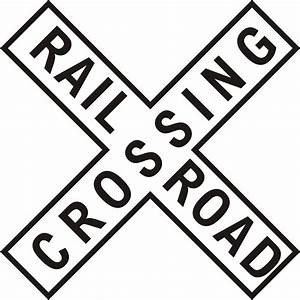 Railway Station clipart railroad crossing sign - Pencil ...