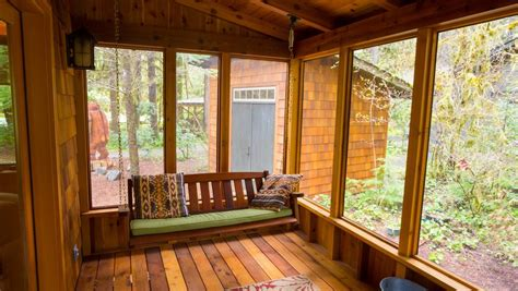enclosed porch   homeowners  enjoy  area