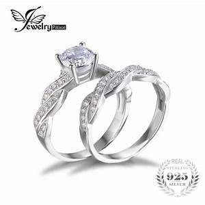 aliexpresscom buy jewelrypalace infinity simulated With promise ring engagement ring wedding band set