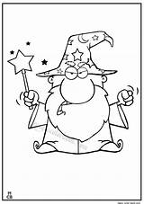 Coloring Wizard Magic Merlin Outline Emoji Books Magiccolorbook Afkomstig Colouring sketch template