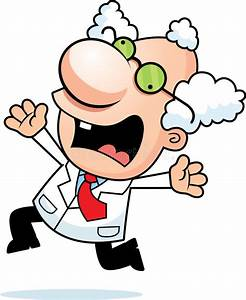 Cartoon Mad Scientist Panicking Stock Vector ...