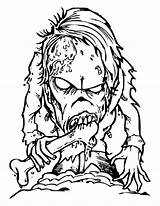 Scary Coloring Monster Pages Monsters Horror Creepy Eater Bone Printable Halloween Drawing Sheets Zombie Drawings Template Sky Getcolorings Dragon sketch template