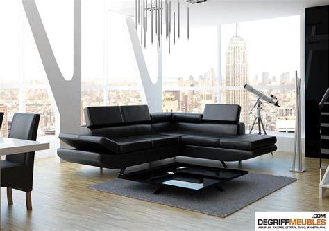 canapé angle convertible noir salon avec canape noir