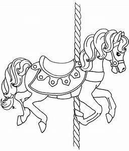 carousel horse template printable get coloring pages With merry go round horse template