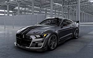 Download wallpapers 2020, Ford Mustang Shelby GT500 Venom, gray sports coupe, exterior, front ...