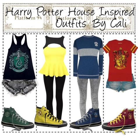 U0026quot;Harry Potter House Inspired Outfitsu0026quot; by thetipstersisters on Polyvore   harry potter outfits ...