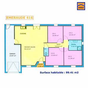plan de maison individuelle plain pied With lovely plan de maison 120m2 14 plan maison trecobat maison moderne
