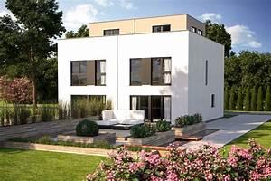 2 Geschossiges Haus : doppelhaus duo 160 mit flachdach von b renhaus ~ Frokenaadalensverden.com Haus und Dekorationen