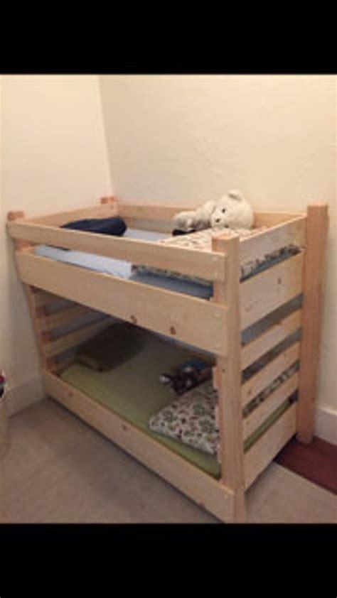 toddler bunk bed    diy plans fits  crib size