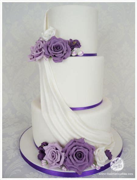 wedding cakes  purple flowers purple  tier wedding