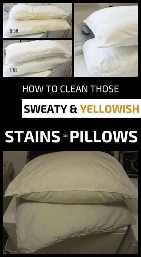 clean  sweaty  yellowish stains  pillows cleaning ideascom