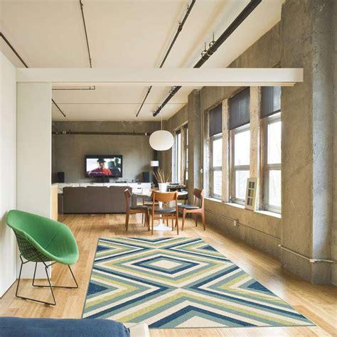 floorita tapis interieurexterieur rombi bleuvert  cm