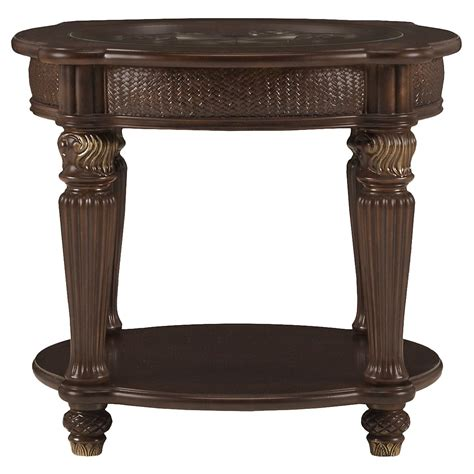 round metal end table city furniture tradewinds dark tone metal round end table