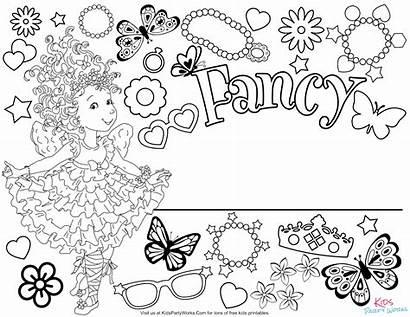 Fancy Nancy Coloring Printables Disney Sheet Nanny