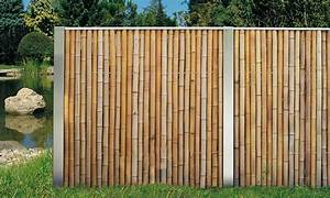 Bambus Edelstahl Sichtschutz : idealer windschutz bambus zaun aus bambusrohr und edelstahl ~ Markanthonyermac.com Haus und Dekorationen
