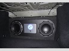 Installation of subwoofer in trunk