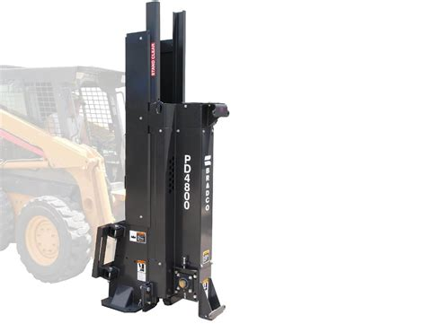bradco pd skid steer post driver attachment lano equipment
