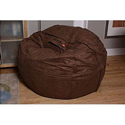 6 Foot Lovesac by Lovesac 6 Brown Microsuede Bean Bag Free Shipping