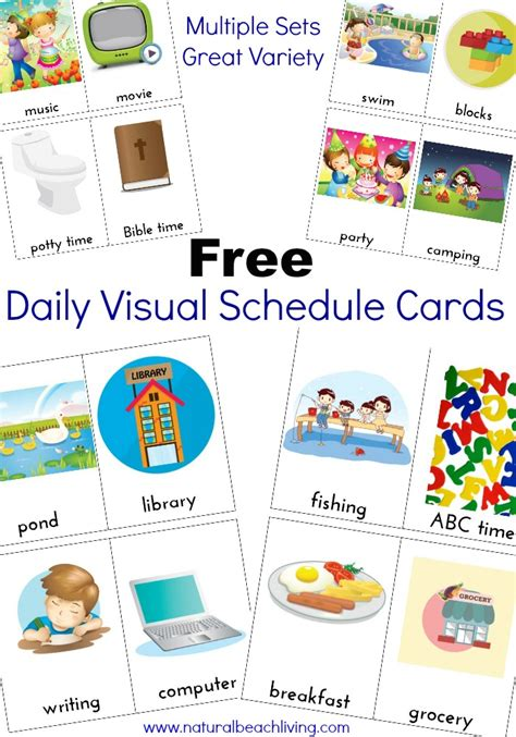 visual schedule daily visual schedule cards free printables living