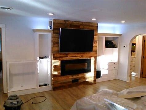 electric fireplace recessed power cables  wall