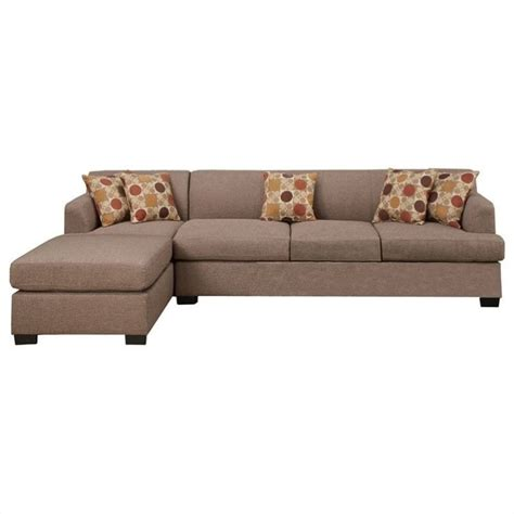 Poundex Reversible Sectional Sofa by Poundex Bobkona Hudson 2 4 Seat Reversible Sectional