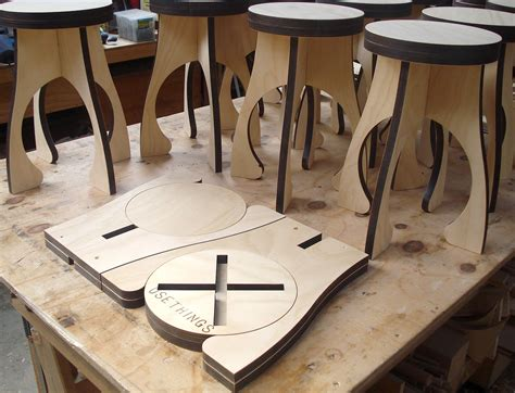 alien stool flat packs  efficient distribution diy