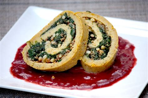 Chickpea Roulade With Spinach And Pinenut Stuffing Jamie Geller