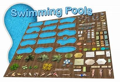 Swimming Pool 2d Landscape Symbols Plan Software