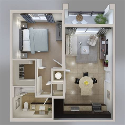 50 plans en 3d d appartement avec 1 chambres sims 3d