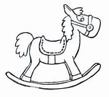 Horse Rocking Sketch Coloring Pages Paintingvalley Explore sketch template
