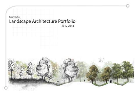 13243 landscape architecture portfolio cover barker undergraduate landscape architecture