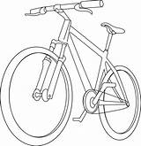 Bicycle Bike Coloring Pages Clipart Drawing Handlebar Mountain Clip Simple Line Cycle Stem Transport Printable Getcolorings Drawn Rock Getdrawings Colorings sketch template