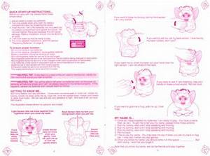 Toy Manual Furby Instruction