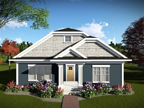 narrow lot craftsman house plan  rear entry garage cottage style house plans