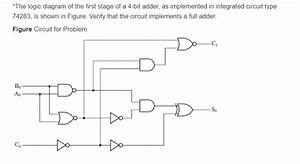 Solved   The Logic Diagram Of The First Stage Of A 4