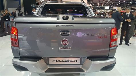 fiat toro bed 2016 fiat fullback double cab rear at the 2015 dubai motor