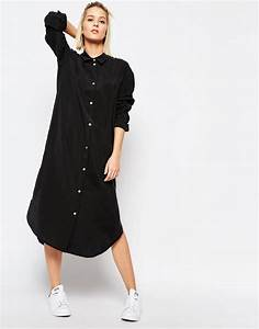 Robe longue chemise for Robe chemise longue femme