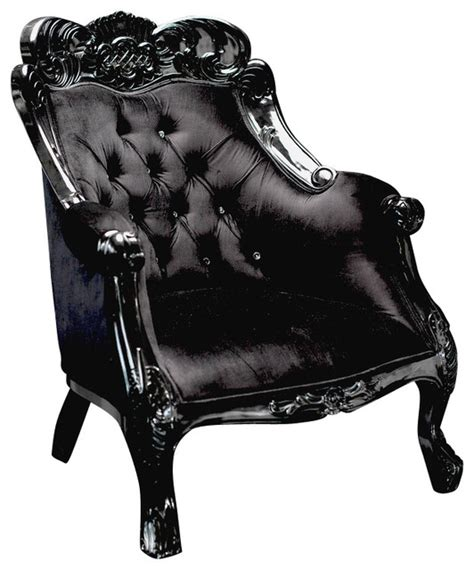 black velvet baroque chair contemporary armchairs and