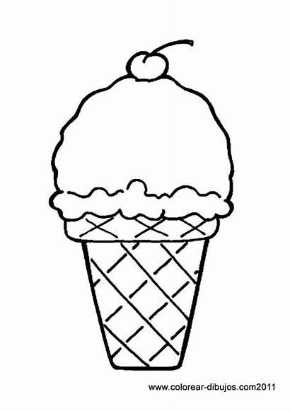 Ice Cream Coloring Printable Cone Cones Pages