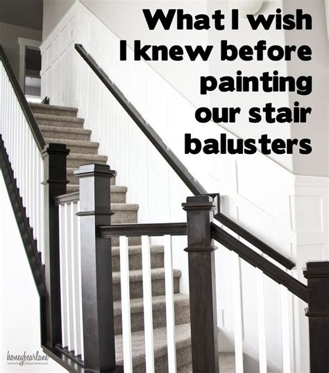 tips  painting stair balusters posts stairs