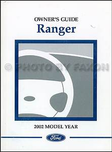 2002 Ford Ranger Owner U0026 39 S Manual Original