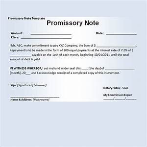 11 promissory note templates word excel pdf formats With promissory letter template
