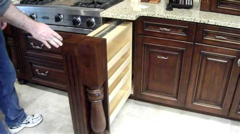 hidden spice rack  custom kitchen cabinet youtube