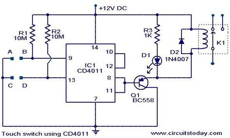 Touch Switch Using Electronic Circuits