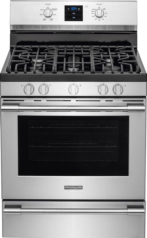 frigidaire professional stainless gas range fpgfqf