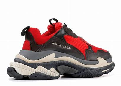 Balenciaga Triple Noir Rouge Distressed Pre Rosse